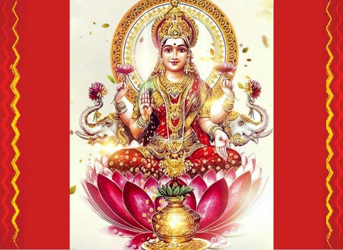 Lakshmi Ashtottara Shatanamavali Homa With 108 Lotus Flowers